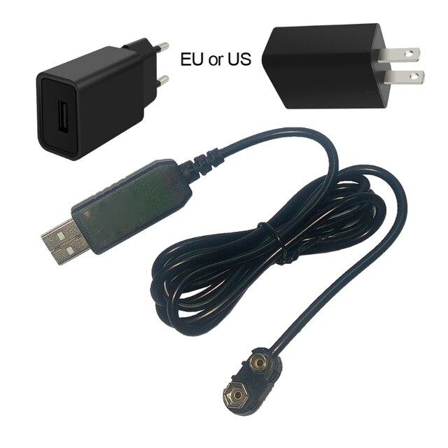 9V Battery Eliminator USB Cavo 5V Boost per 9V Convertitore di Tensione Step up Volt Trasformatore DC regolatore di potenza Linea Per Il Tester