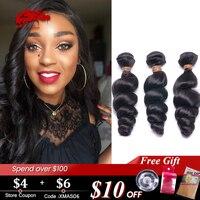 Peruvian Loose Wave Human Hair Bundles 1pc/ 3pc/4pc Lot Natural Color 12 26 ALi Queen Hair Virgin Remy Hair Extensions