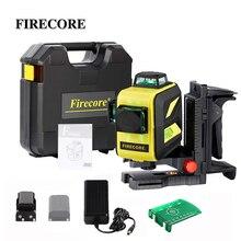FIRECORE 2 литиевая батарея 12 линий 3D F93T-XR F93T-XG чемодан красный/зеленый лазерный уровень+ зарядное устройство