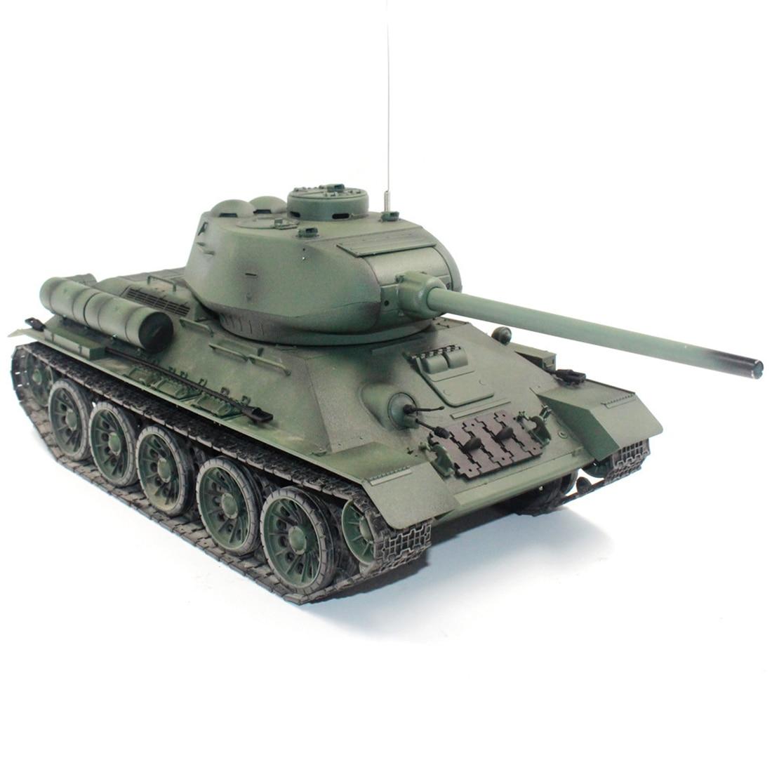 1:16 Soviet T-34 Medium Tank 2.4G Remote Control Model Military Tank with Sound Smoke Shooting Effect - Basic Edition
