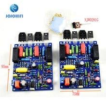 Bir çift 2 kanal çift kanallı QUAD405 ONSEMI NJW0281G 100W + 100W DIY kitleri bitmiş ses güç amplifikatörü kurulu montajlı kurulu