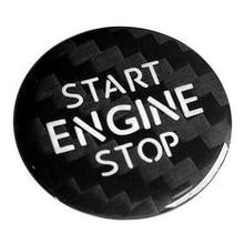 Carbon Fiber Engine Start Stop Button Interior Trim Cover Sticker for Touareg Phaeton