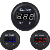 Auto Car Motorcycle oltage Meter Battery Gauge Socket Waterproof DC 12V-24V Car Marine LED Digital Display Metro Voltmeter