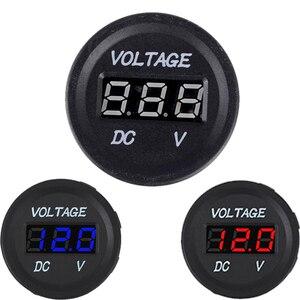 Medidor de voltaje para coche y motocicleta medidor de enchufe de batería a prueba de agua cc 12V-24V pantalla Digital LED marina para coche, voltímetro