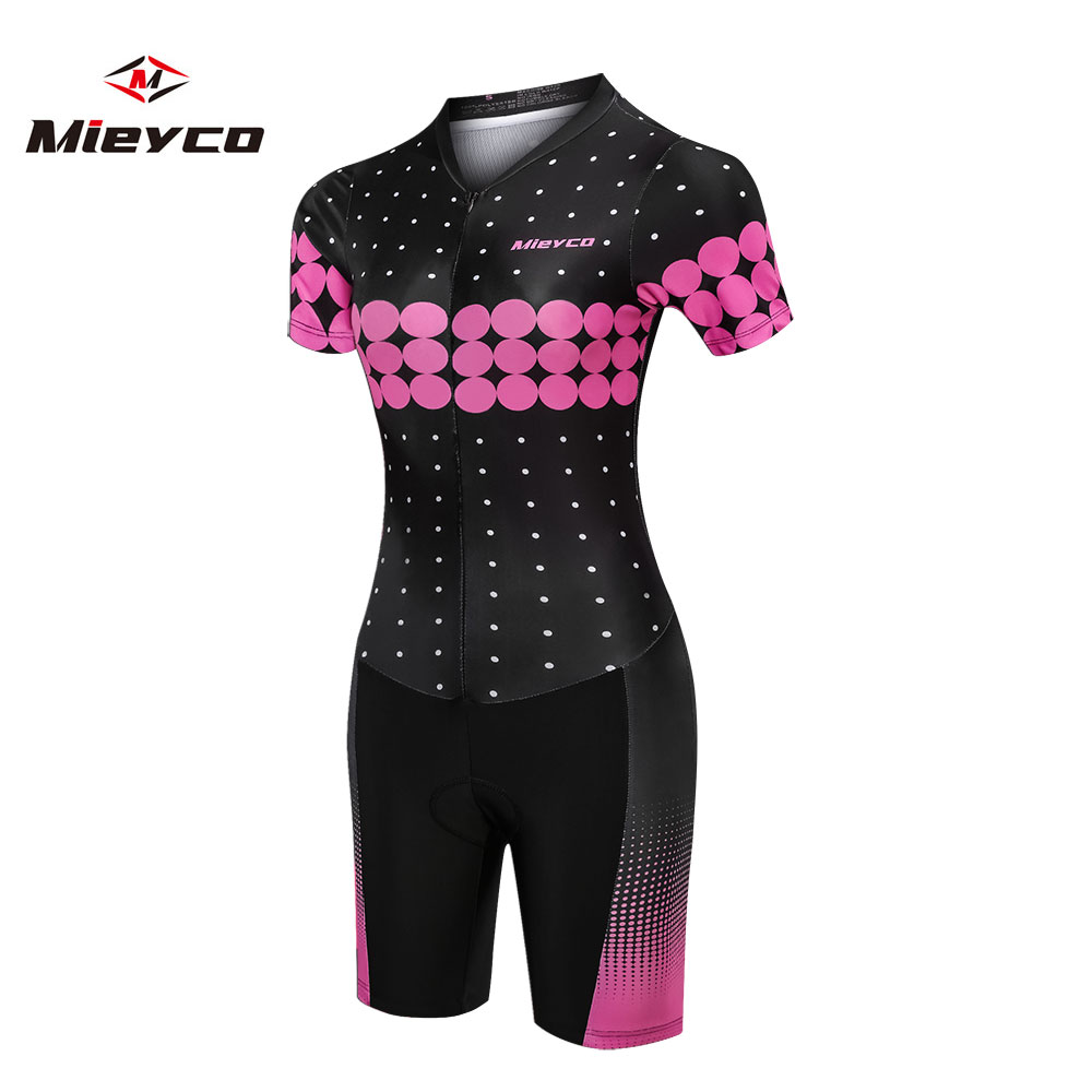 2019 Pink Women Bike Jersey Set Bicycle Clothes Suit Short Cycling Clothing Kit Summer Mtb Outfit Swimming Running Cycling wear in Cycling Sets from Sports Entertainment