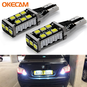 2x T15 W16W LED CANBUS 2835 Chip 15LED High Power Backup Reverse Light No Error Rear Lamp Bulb for BMW E39 E60 E90 image