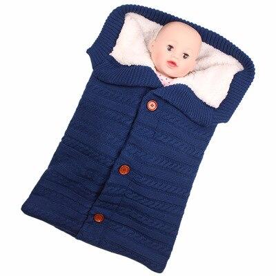 cobertor do bebe quente malha recem nascido swaddle 01