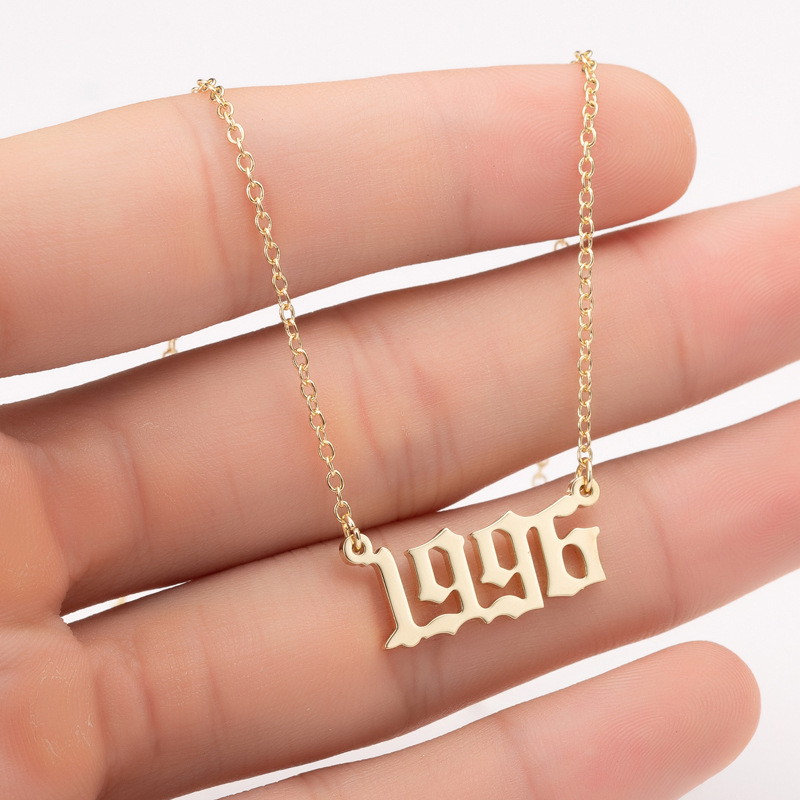 Fashion From 1980 To 2019 Pendant Necklace Year Number Special Date Personalized  Jewelry For Women