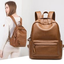 Genuine Leather Backpack Women Fashion Large Capacity Backpack 2019 New Women Backpacks for Teenage Girls Schoolbags hot C1154(China)