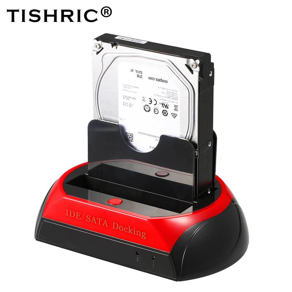 TISHRIC ALL in One HDD Docking Dock Station HD Dual SATA IDE to Usb 2 0 2 5 3 5 External Hard Drive Reader Housing Case HD BOX