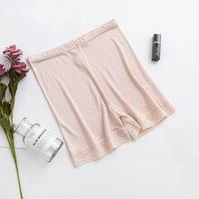משי בתוספת גודל אישה תחתוני תחתוני נשים הלבשה תחתונה majtki damskie bragas mujer בוקסר femme תחת חצאית בטיחות מכנסיים קצרים מכנסיים