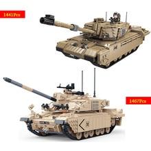 1441 шт. Challenger II Основной боевой танк строительные блоки кирпичи игрушки для детские образовательные игрушки legoed танк