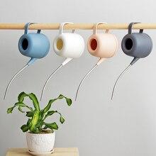 Rega pode aço inoxidável boca longa rega pote suculentas planta especial flor aspersão garrafas ferramentas de jardinagem