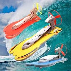 Аэродинамический подарочный набор, модель, эксперимент, физический игрушечный гоночный катер, сделай сам, дети, энергия ветра, легкие