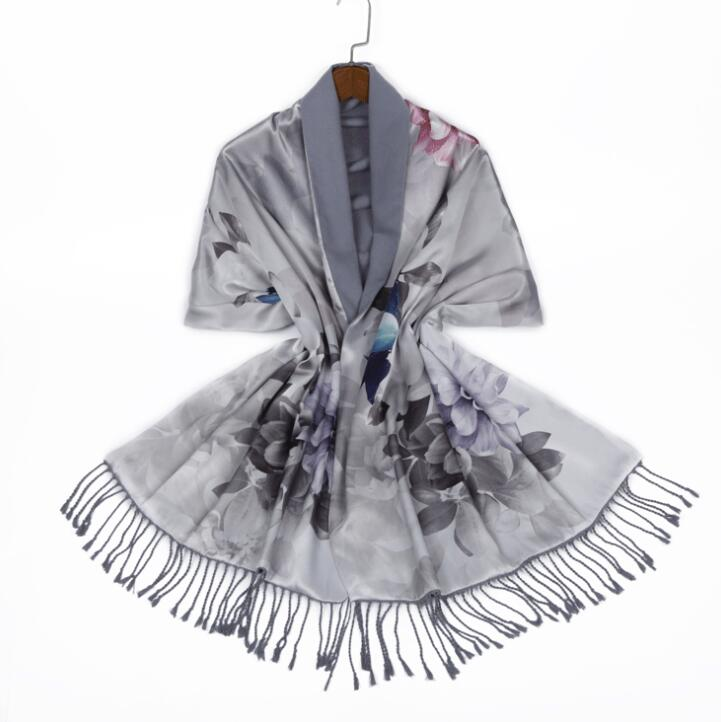 Silk Digital Printed  Double-sided Brushed Shawl