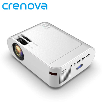 CRENOVA Mini Projector M01 (Optional Android 6.0 M01C) 3000 Lumens for Phone Projector Support 1080P Full HD 3D LED Projector