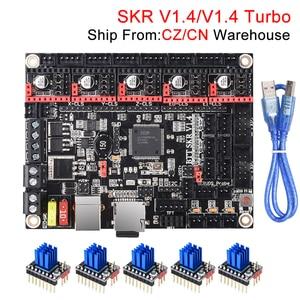 BIGTREETECH SKR V1.4 BTT SKR V1.4 Turbo Control Board 32Bit SKR V1.3 SKR 1.4 TMC2209 TMC2208 3D Printer Parts For Ender 3 Pro