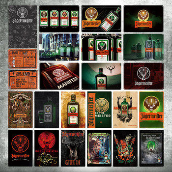 Jagermeister Metal Sign Tin Signs Metal Plate Plaque Metal Vintage Pub Bar Man Cave Wall Decor [ wellcraft ] coffee cocktail love cake tea tin signs wall plaque custom metal painting antique gift bar pub decor lt 1704