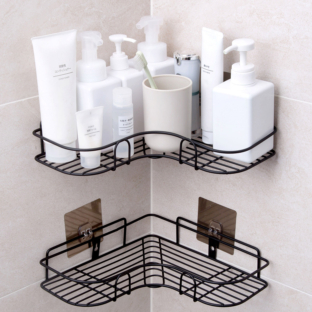Bathroom Accessories Punch Free Corner Bathroom Shelf Bathroom Fixtures Wrought Iron Storage Rack Kitchen Tripod Wall Shelf Xnc Bathroom Accessories Sets Aliexpress