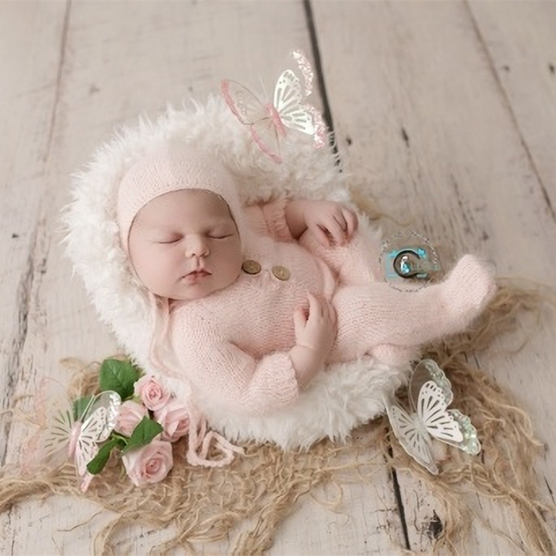Baby Photography Props,baby Handmade Mink Yarn Romper For Newborn Photography Props