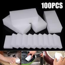 100pcs White Magic Cleaning Sponge Eraser Nano Kitchen Household Cleaner Multi-functional Foam 100*60*15mm