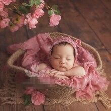 2021 Newborn Full Moon Baby Children's Studio Photography Photography Basket Basket Clothing Complete Set Full Set Theme Props