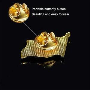 Image 2 - Großbritannien Cayman Inseln Mode Brosche Pin Metall Brosche Schmuck Kleidung Zubehör