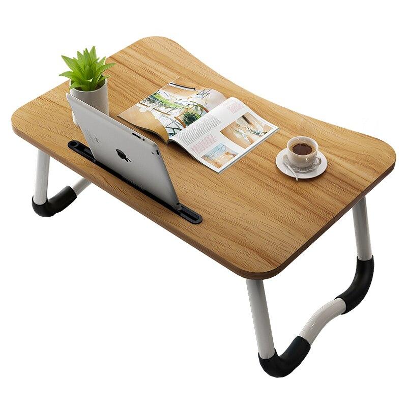 Folding Portable Laptop Desks Stand Holder Study Table Desk Wooden Foldable Computer Desk For Bed Sofa Tea Serving Table Stand