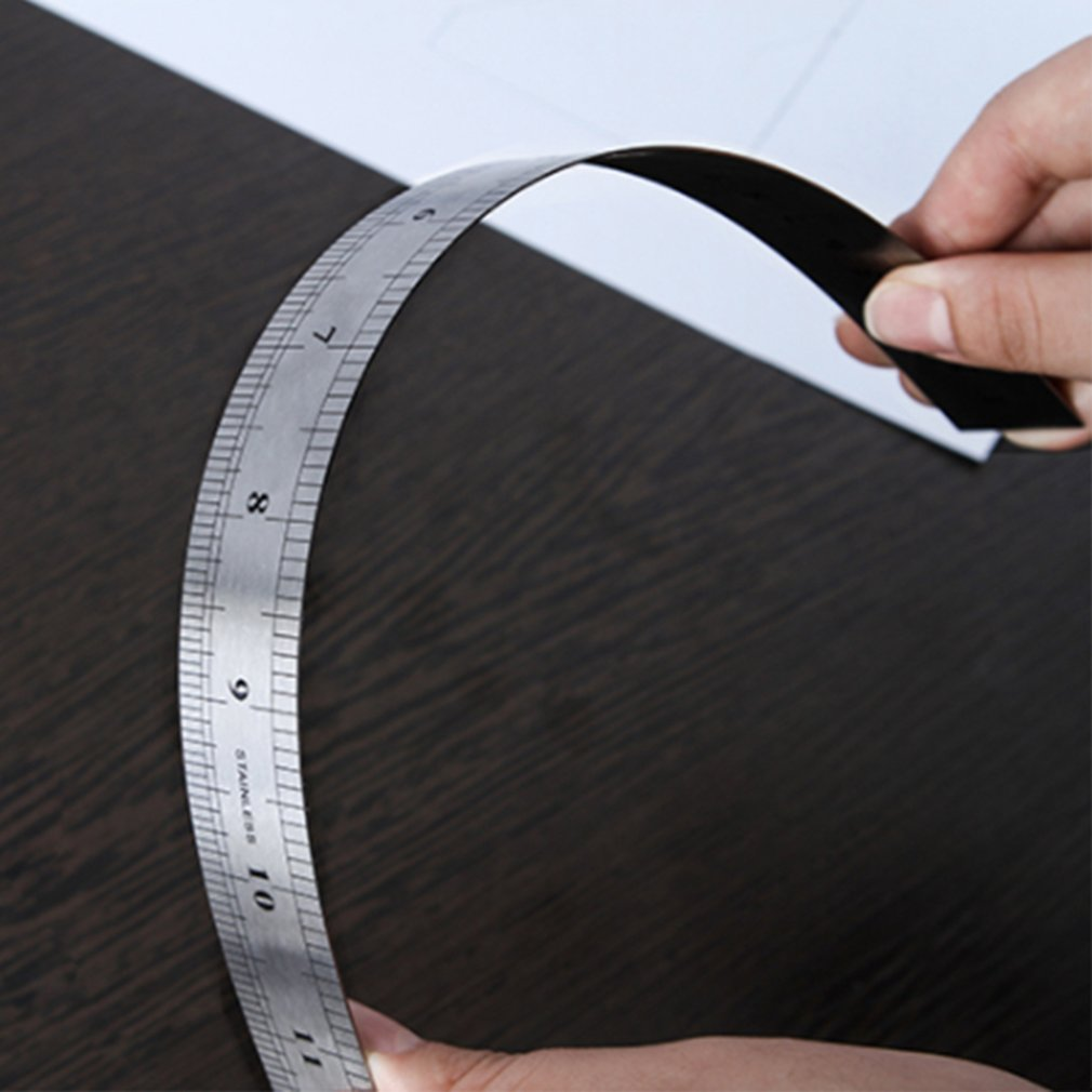 Stainless Steel Straight Ruler Precision Measuring Ruler Scale Ruler Multifunction Woodworking Measuring Tool