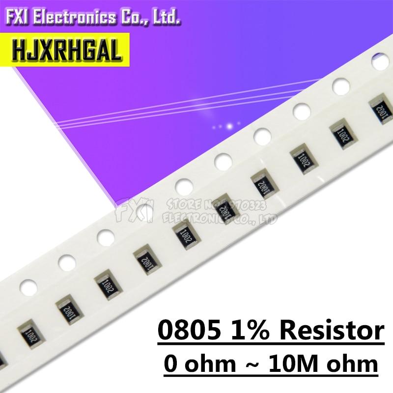 100 шт. 0805 резистор SMD точность 1% 0 Ом ~ 10 м Ом 1 к 2,2 к 10 к 100 к 0 1 10 100 150 220 330 Ом 1R 10R 100R 150R 220R 330R