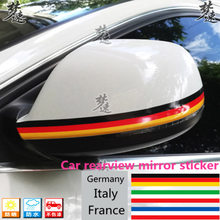 Germany Italy France Flag Rear View Mirror Sticker Reflector Decorative Color Bar