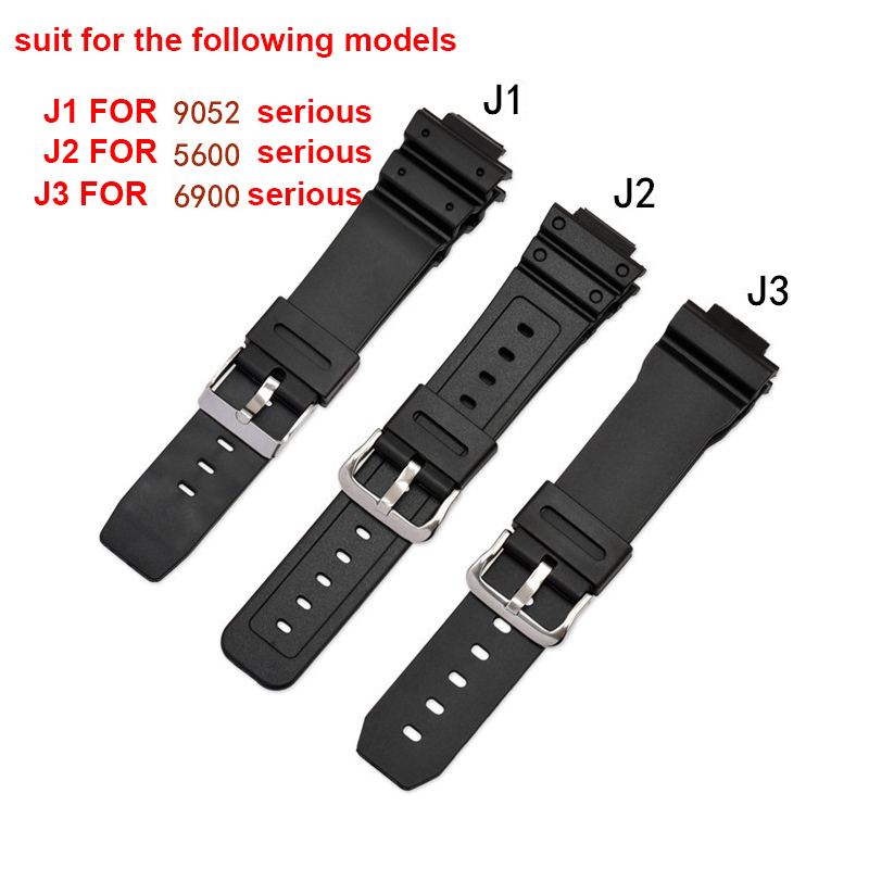 Watch Band For Casio Resin Sports Watch Strap Spot Wholesale TPU Rubber Strap FOR 9052 5600 6900 Series