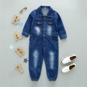 Image 4 - CNFSNJ new Baby Boy Girls Costume Cowboy Fashion Jeans Children Soft Denim Baby Romper Graffiti Infant Clothes Newborn Jumpsuit