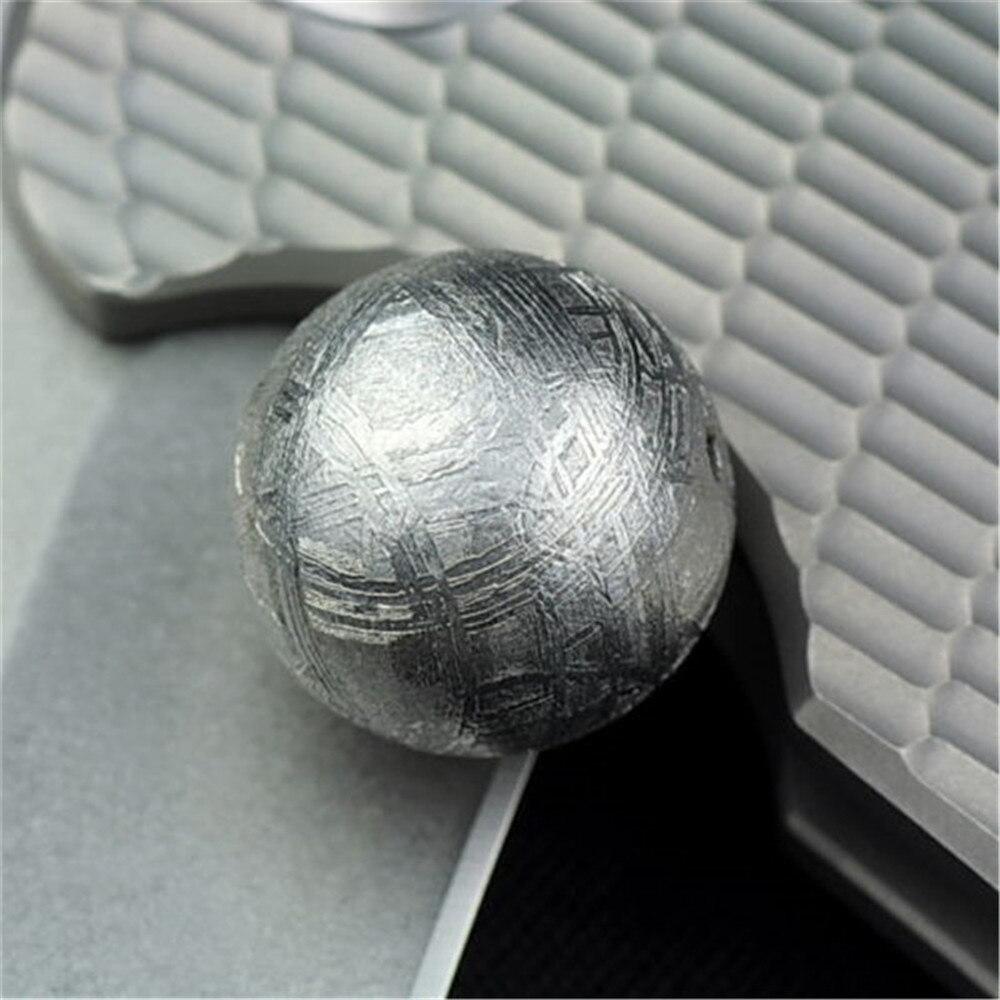 14mm Genuine Natural Gibeão Meteorito de Ferro Moldavita Solto Forma Redonda de Prata Um Talão Acessório Para DIY Colar Pulseira AAAAA - 3