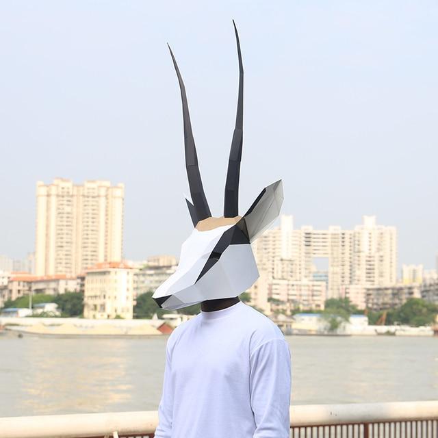 מסכת ראש אוריגמי - אנטילופה 2
