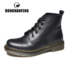 DONGNANFENG Women's Female ladies Ankle genuine leather Boots Shoes winter fur plush lace up Punk Riding Equestr 35-44 XML-9926 sitemap 33 xml