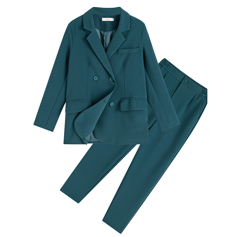High quality women's plus size M-5XL professional office suit pants two-piece Autumn and winter ladies jacket elegant trousers