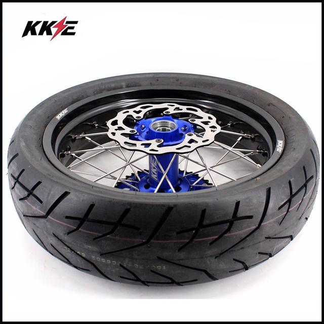 COMPLETE SUPERMOTO WHEELS & TIRES SET  4