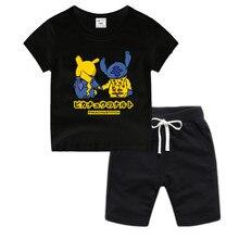 Little Boy Girl Anime Pikachu Cotton T-Shirt Summer Kids DRAGON BAL Z Christmas Shirt Children Cartoon Toddler Tshirt