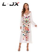 Женское платье макси Среднего Востока с принтом в стиле бохо