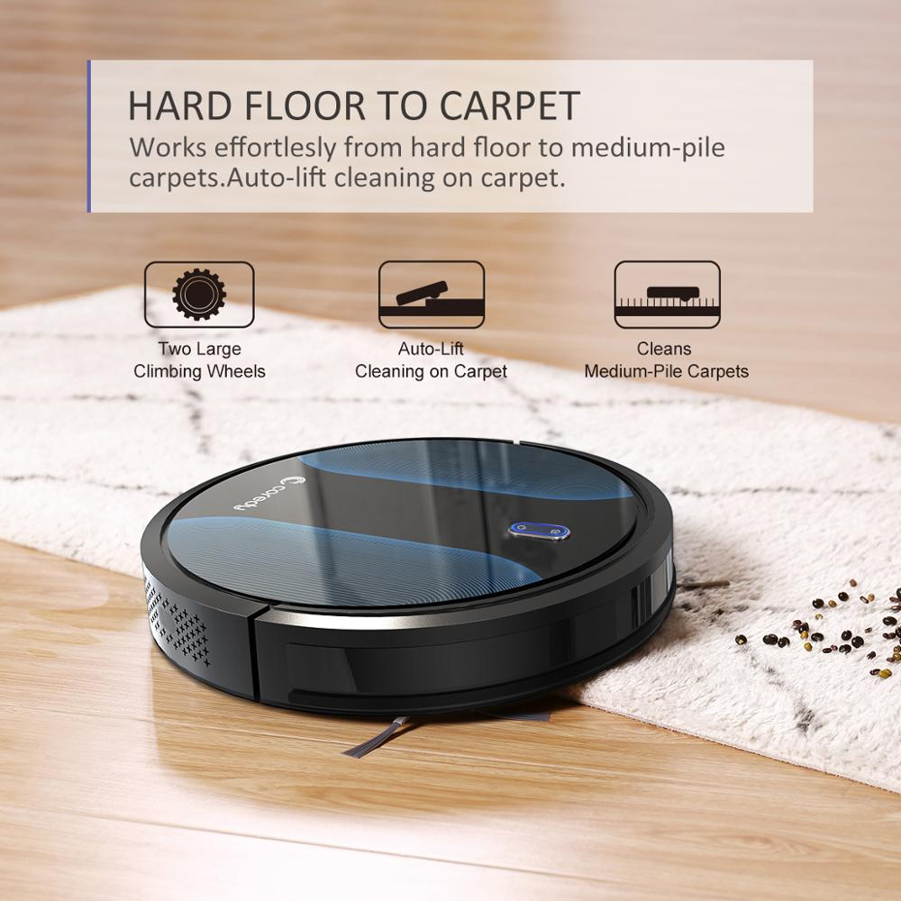 Coredy R500+ 1400PA Sauber Roboter staubsauger Automatische Staub Boden Teppich Reinigung Smart Nass Mopp Sweep Robotic vakuum für home - 4