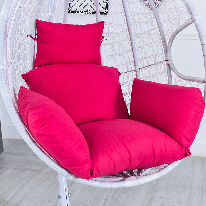 Hanging Basket Chair Cushion Swing Seat Removable Thicken Egg Hammock Cradle Cushion Outdoor Back Cushion H88F