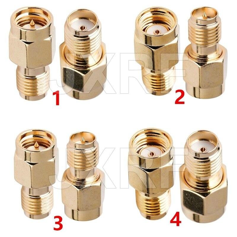 JXRF Connector 2pcs RF Coaxial Coax Adapter SMA Male Female RP SMA To SMA Male RP-SMA Connector