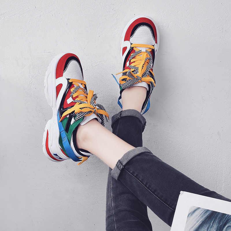 Zapatos casuales gruesos antideslizantes para mujer, zapatos cómodos para caminar con plataforma para mujer, zapatillas para mujer