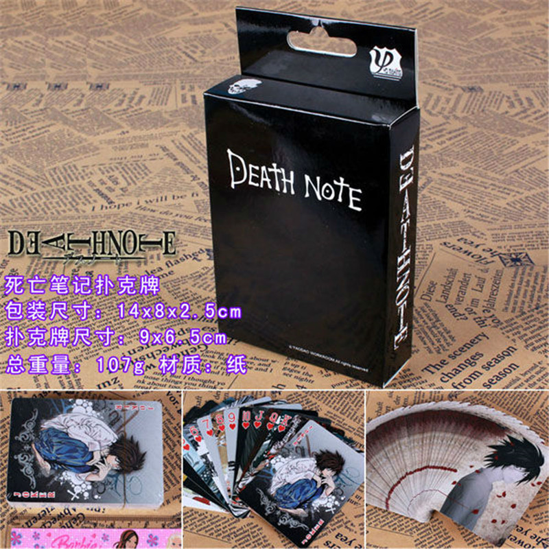 10 Boxes/lot Anime Death Note Poker Cards Cosplay Killer Misa Amane Board Game Cards With Box Playing Cards Desktop Game Card