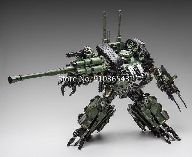 Heißer Verkauf WJ M04 M-04 Schlägerei Transformation Legierung Oversize SS Führer Camouflage Tank M1A1 Modus KO Action Figur Roboter Spielzeug