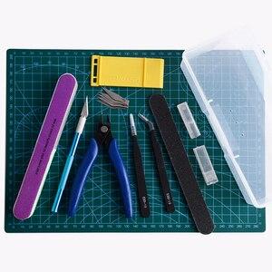 Image 3 - Modelling Tools Set Model DIY Hobby Accessories Cutting Mat Self Healing Grinding Machine Polishing Tools Kit For Gundam Tool