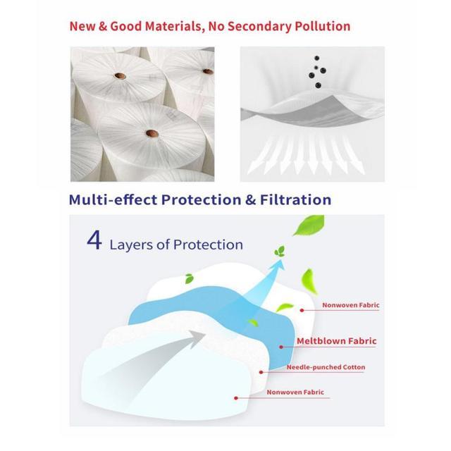 Reusable Face Mask bacteria  Filter Anti Dust Respirator FFP3 Mask N95 FFP1 FFP2 Face Mouth Masks PM2.5 Dust Mask TSLM2 5