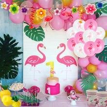 Flamingo festa decoração papel descartável talheres verão havaí aniversário prato copo guardanapo tropical flamingo festa evento