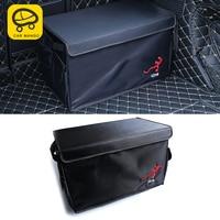 CarManGo for Audi Q5 FY 2018 Car Black Organizer Box Large Capacity Folding Storage Bag Trunk Stowing and Tidying